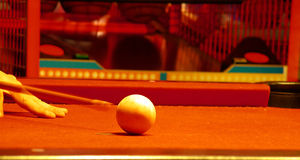 White ball on a pool table Stock Photography
