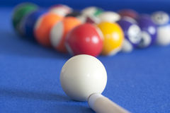 White ball ready to play pool Stock Photography