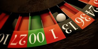 White ball on roulette wheel Royalty Free Stock Photo