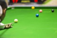 White ball snooker Stock Photo