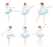 White ballet dancers Stock Photos