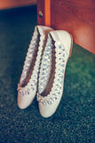 White ballet shoes Royalty Free Stock Photography