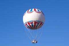 White balloon, blue sky Royalty Free Stock Photo