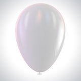 White Balloon. Clipping path included for easy selection Stock Photography