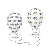 White balloons Stock Images