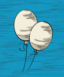White balloons Royalty Free Stock Photography