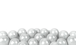 White balloons. As a background with space for text Royalty Free Stock Photos