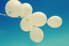 White balloons Stock Photography