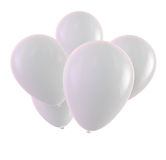 White Balloons. Isolated on white. Clipping path included for easy selection Royalty Free Stock Images
