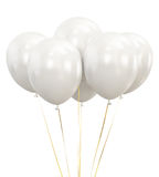 White Balloons isolated on White Background Royalty Free Stock Image
