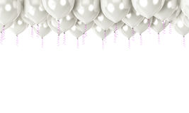 White balloons in top as a background Royalty Free Stock Images
