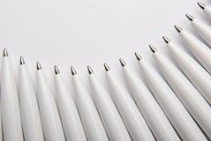 White ballpoint pens Royalty Free Stock Photos