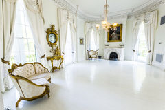 White Ballroom in Nottoway Plantation House Stock Photo