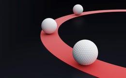 White balls. Red line and three white balls Stock Photography