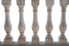 White balustrade. White stone balustrade in white background Stock Images