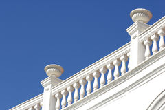 White balustrade. White stone balustrade in blue sky Royalty Free Stock Photo