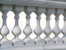 White balustrade. Row of stone balusters Royalty Free Stock Photo