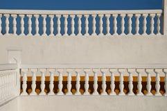 White balustrade Royalty Free Stock Image