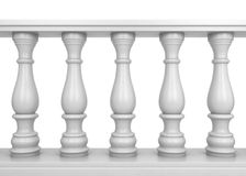 White balustrade Stock Photography