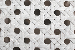 White bamboo mat as striped background Stock Images