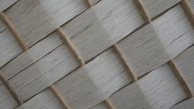 White bamboo weave texture Stock Photo
