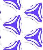 White banana shapes on purple shapes seamless pattern Stock Image