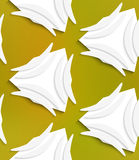 White banana shapes on white and mesh seamless pattern Royalty Free Stock Image
