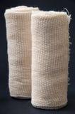 White bandage on the black background Royalty Free Stock Images