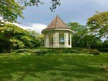 White Bandstand or Gazebo at the Botanic Gardens Singapore. White Bandstand or Gazebo at the Unesco Botanic Gardens Singapore royalty free stock photos