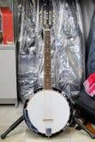 White banjo Royalty Free Stock Images