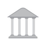 White bank building icon Stock Photography