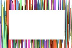 The white banner on the background of the colored stripes. Royalty Free Stock Image