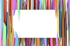 White banner with color . Abstract background to create banners, covers, posters, cards, etc royalty free illustration
