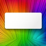 White banner on colorful striped background Stock Photos