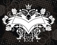 White banner with crown Royalty Free Stock Image