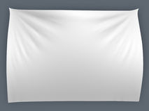 White banner with folds Royalty Free Stock Images