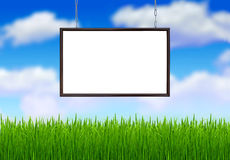 The white banner in the frame Stock Image