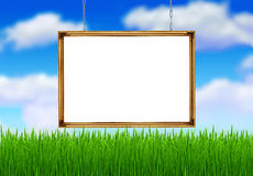 The white banner in the frame Stock Photography