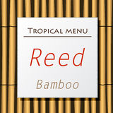 White banner hang on bamboo Royalty Free Stock Photo