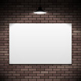 White banner hanging Royalty Free Stock Images