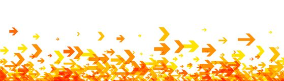 White banner with orange arrows. Royalty Free Stock Photography