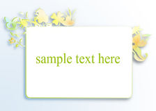 White banner with sample text Stock Photo