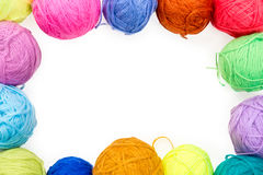 Free White Banner With Frame Of Colored   Thread Stock Photography - 73403632