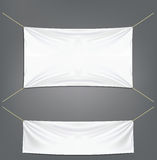 White banners with garters Royalty Free Stock Image