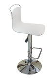 White bar stool with back  on white background Royalty Free Stock Images