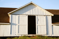 White barn doors Stock Images