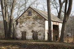 White Barn Ruin Stock Image