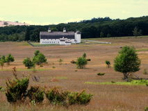 White Barn and Silos on the Sleeping Bear Dunes. Royalty Free Stock Photos