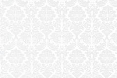 White Baroque Background. With big ornaments Royalty Free Stock Photography