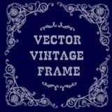 White baroque frame Royalty Free Stock Image